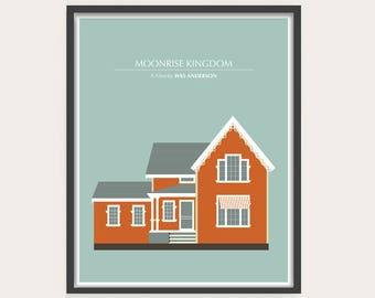 Moonrise Kingdom, Wes Anderson, Minimal Movie Poster.