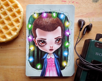 Eleven, Stranger Things, 4x6 Limited Edition Postcard, Postcrossing, Snail Mail
