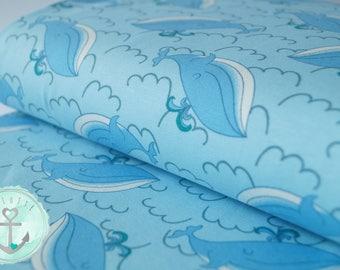 Jersey fabric Wal - light blue