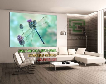 Dragonfly Canvas Alternative Large Canvas Wall Poster Wall Art Gallery Wrapped Canvas Giclee Print multi panel art Canvas Art Split art