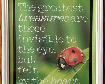 The Greatest Treasures...8x10 print, Ladybug
