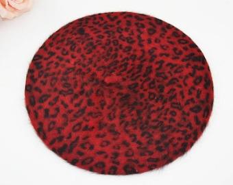 Beret vintage leopard rockabilly pinup psychobilly Zebra tattoo retro cherry