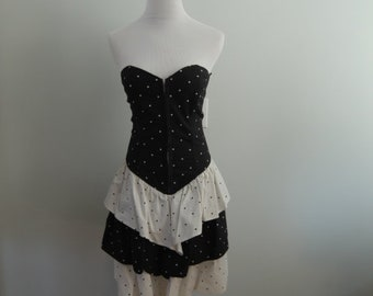 Burlesque Style Polka Dot Dress