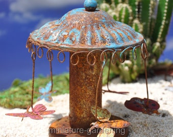 Carnival Swing Ride for Miniature Garden, Fairy Garden