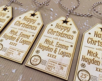 Personalised Wooden Christmas Gift Tag