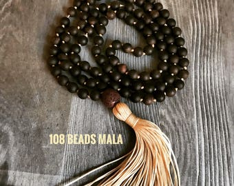 Hand knotted 108 beads mala-diffuser mala