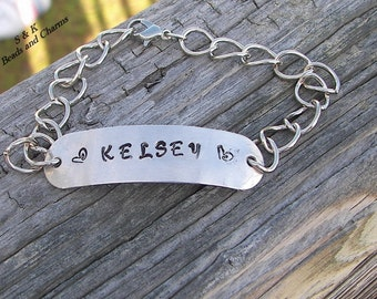 Hand stamped jewelry, personalized, engraved jewelry, name bracelet , hand stamped, custom stamped, stamped bracelet, custom name bracelet