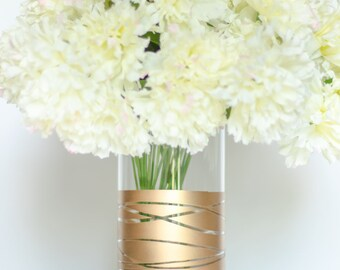 Gold Vase | Gold Wedding Vase | Gold Centerpiece | Gold Vase Bulk | Gold Dipped Vase | Wedding Centerpiece | Wedding Décor