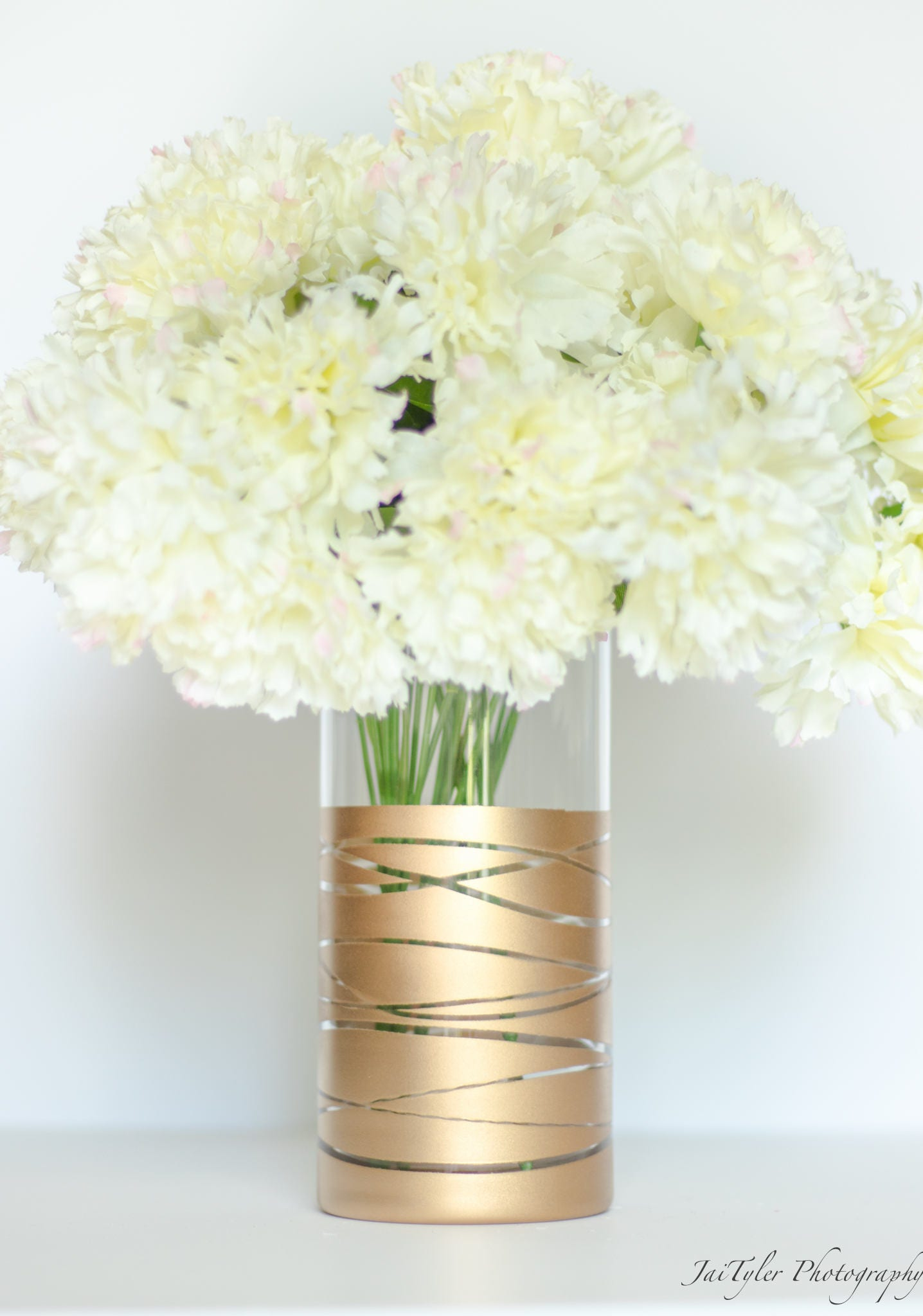 Gold Vase Gold Wedding Vase Gold Centerpiece Gold Vase