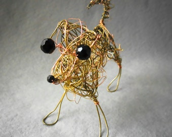 Yellow Labrador Retriever, Dog Art, Wire Sculpture,3D Metal Art ,Pet Dog Gift, Pet Lover Keepsake