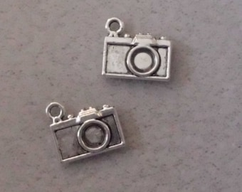 Silver Travel Camera  Charms