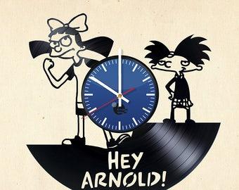 Hey Arnold Helga Vinyl Record Wall Clock