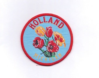 Vintage Holland Michigan with Tulips Patch