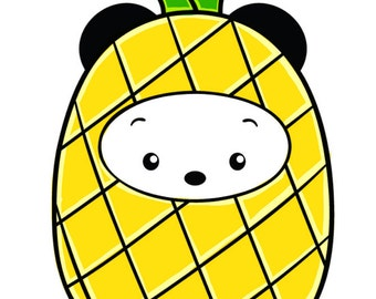 Mini Pineapple Panda Planner Sticker Sheet