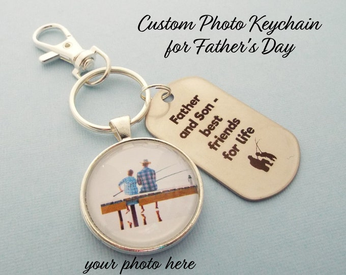 Son to Father Gift, Father's Day Gift, Keychain for Dad, Dad Gift, Father Gift, Dad from Son Gift, Custom Photo Keychain, Gift for Him