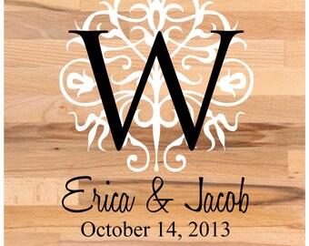 Dance Floor Decal Wedding Wedding Floor Monogram Vinyl Floor