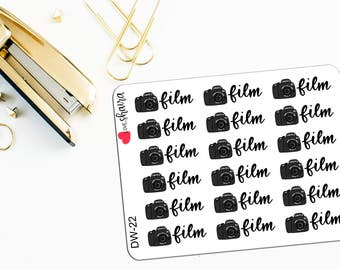 Film Videos | Filming Sticker, Youtuber, Vlogger Sticker, Shooting Video Sticker, Plan with Me - Hand Drawn and Lettered Planner Stickers
