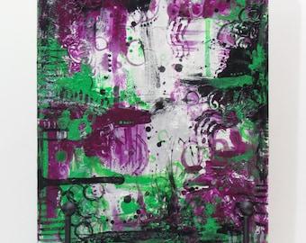 "Original Artwork ""And Joy shall overtake us as a flood,"" Acrylic Painting"