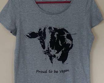 Ladies Organic Scoop Neck T-Shirt: Proud to be vegan
