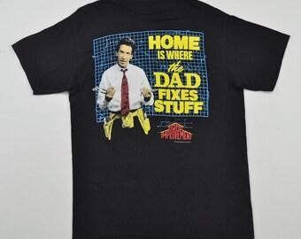 Home Improvement T Shirt Black Men Large T-Shirt Tim Allen 90's TV Series Sitcom Tshirt