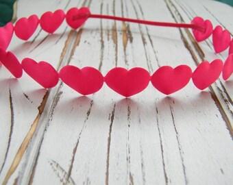 Pink Heart Halo Headband, Heart Headband, Newborn Headband, Halo Heart Headband