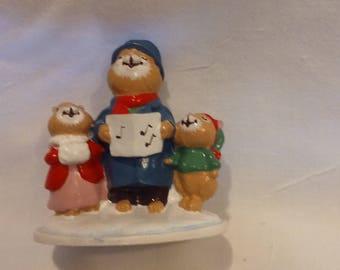 "Avon Forest Friends ""Carolling Trio"" Mini Figurine"