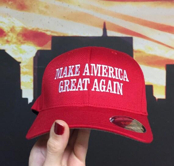 Make America Great Again Hat Trump Flexfit Maga Hats Fitted