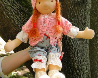 Mary Waldorf Doll 16 inches tall Natural Materials \ Gift for Girls \ Fabric Doll \ Textile Doll