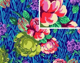 Tapestry Rose - SAPPHIRE - PER 25CM - Amy Butler - HAPI - PWAB117 - 100% Cotton Quilt Fabric