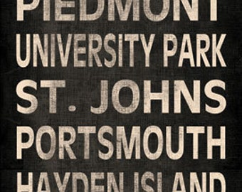Custom Typography Canvas- One 12x36in Hand-Stretched Canvas