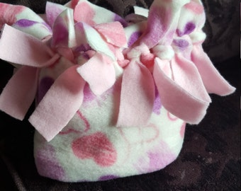 Girls HatBand  Hearts with pink