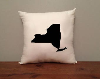 New York Pillow with Optional Heart