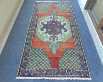 Turkish Rug Wool Handmade Rug Tribal Oushak Rug 8.4 x 4.3 Decorative Rug Living Room Rug