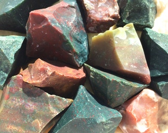 Bloodstone, Rough Bloodstone, Natural Raw Bloodstone, Chakra, Reiki, Crystal Grid, Meditation, Pagan Altar, Ritual, Full Moon Charged!