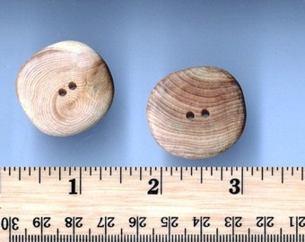 Large Hand Created Baltic Cedar Buttons - Set of 2 (JWL)