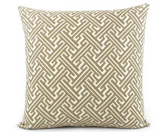 Trellis Tan Pillow Cover, 18x18, 20x20, 22x22, 24x24, Euro Sham or Lumbar Pillow, Cream Pillow, Throw Pillow, Accent Pillow, Toss Pillow