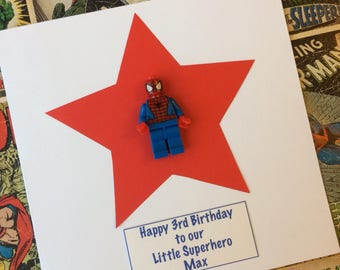 Personalised unique harry potter birthday card with ron superhero my hero personalised birthday greetings card with 3d minifigure for son dad husband boyfriend grandad bookmarktalkfo Image collections