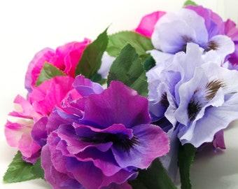 Sweet Pea hair flower, flower hair clip , spring summer accessories, hair barrette
