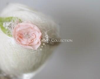 NEWBORN HEADBAND {Vienna} Newborn Photo Prop - Newborn Tieback - Newborn Headbands - Photography Props - Newborn Flower Crown - Photo Props