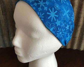 Shimmer Blue Snowflake Headband