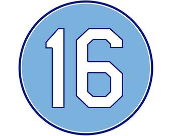 Bo Jackson Number Sticker | Kansas City Royals #16