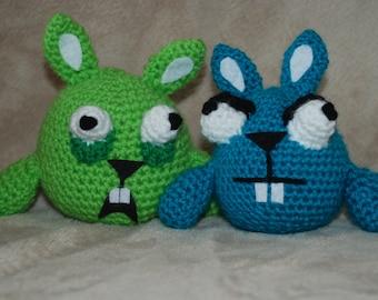 Crocheted Funny Rabbits / Scary Crocheted Rabbits