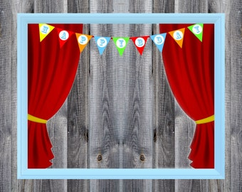 Carnival / Circus Birthday Party Theme - Photo Booth - Prop - Decoration - Downloadable - Printable - 16x20