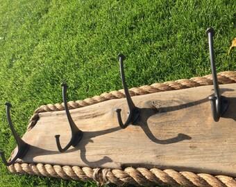 Driftwood coat hooks