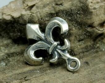Fleur de Lis Charm Sterling silver