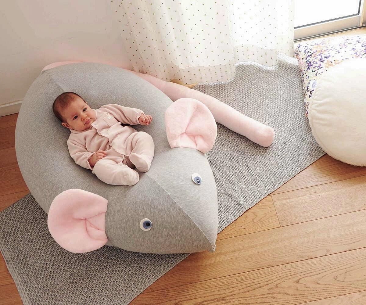 Giant Beanbag for baby kids bean bag huge mouse pouf new