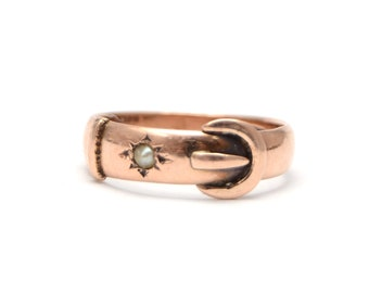 9k Victorian Buckle Ring