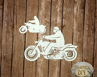 "Laser Cut Chipboard ""Bikers"""