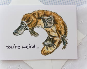 You're Weird..: Illustrated Valentines Card