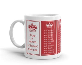 Kings and Queens of England Mug